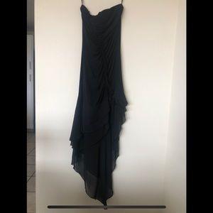 Jessica McClintock Strapless Formal Midi-Dress LBD